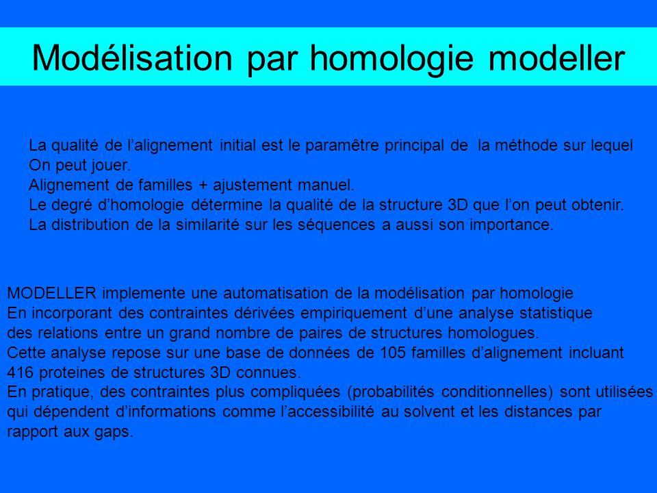 Modélisation par homologie modeller
