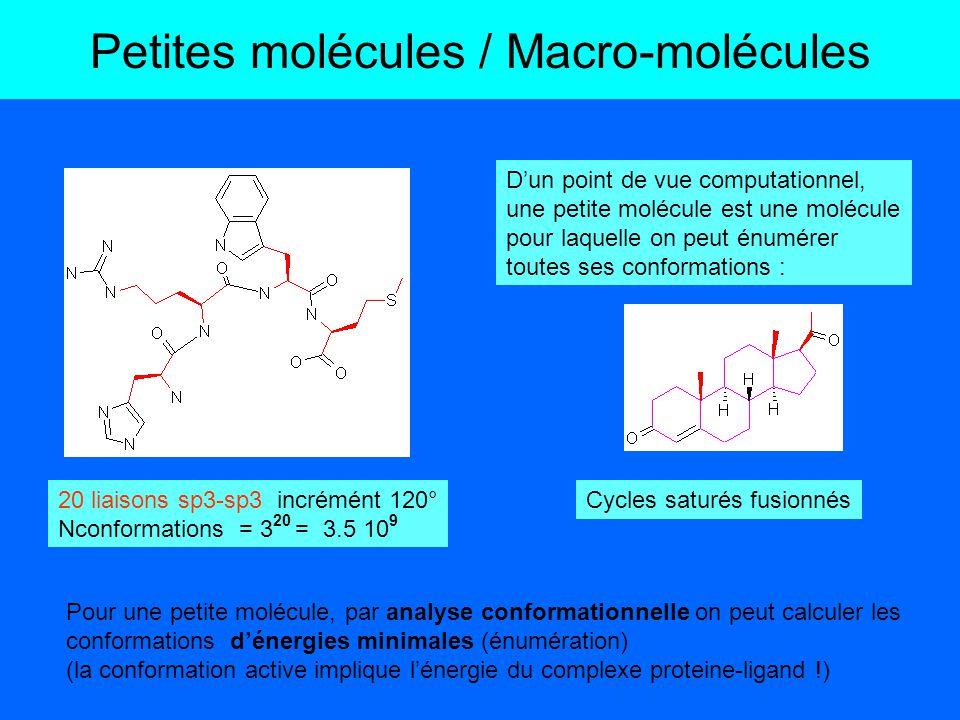 Petites molécules / Macro-molécules