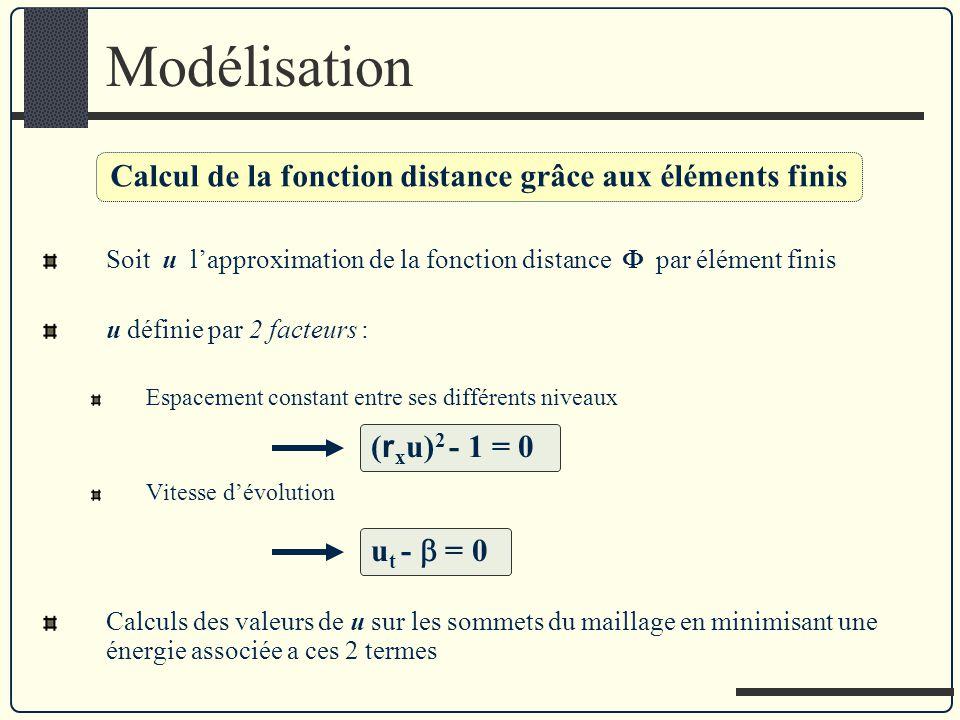 Calcul de la fonction distance grâce aux éléments finis