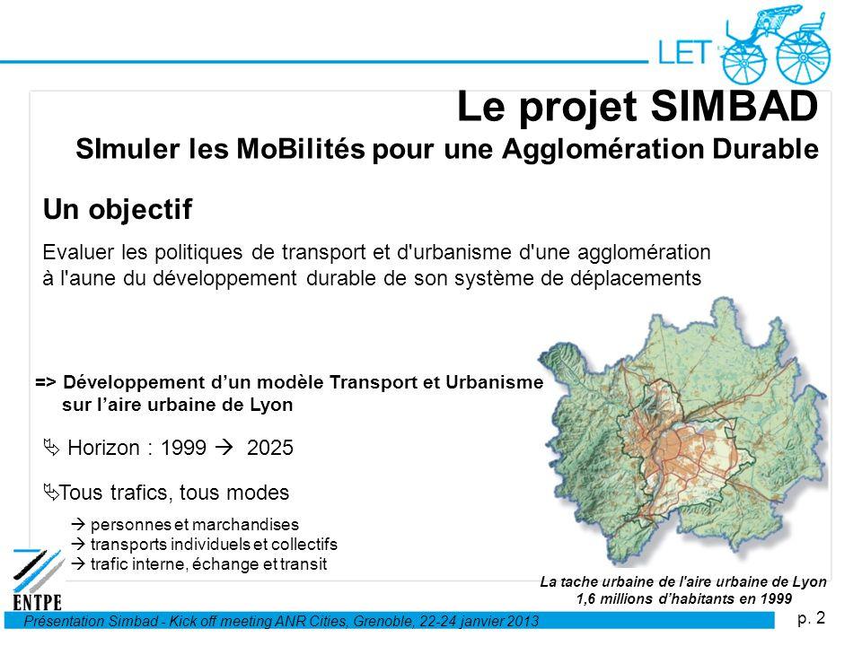 Le projet SIMBAD SImuler les MoBilités pour une Agglomération Durable