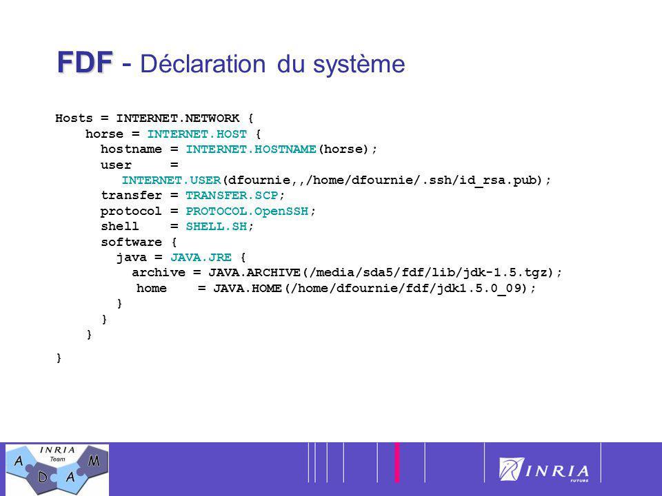 FDF - Déclaration du système