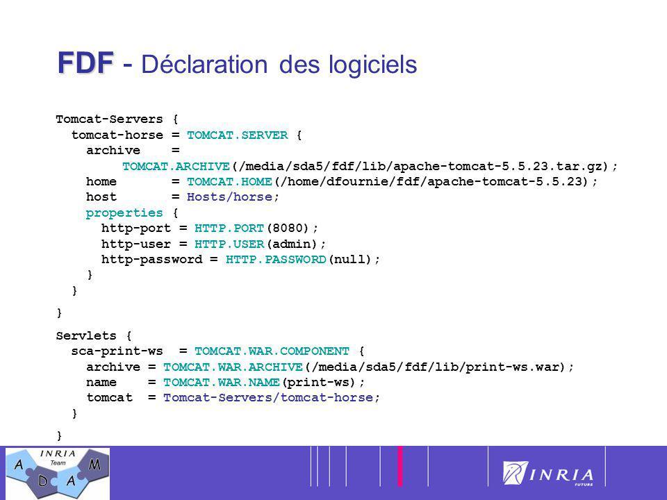 FDF - Déclaration des logiciels