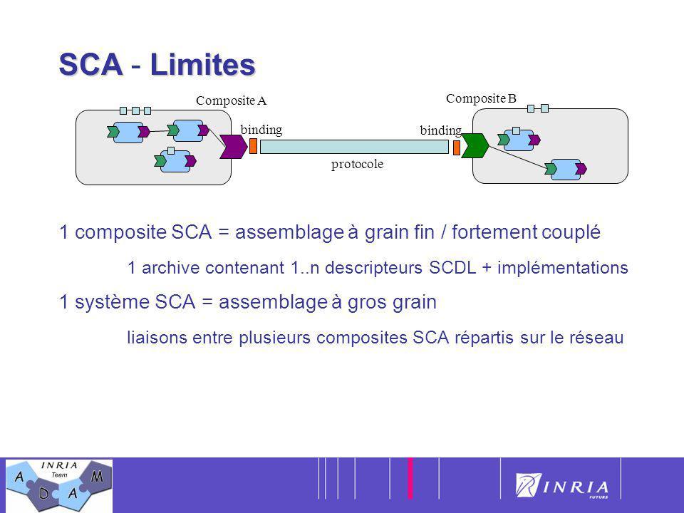 SCA - Limites Composite A. Composite B. 1 composite SCA = assemblage à grain fin / fortement couplé.