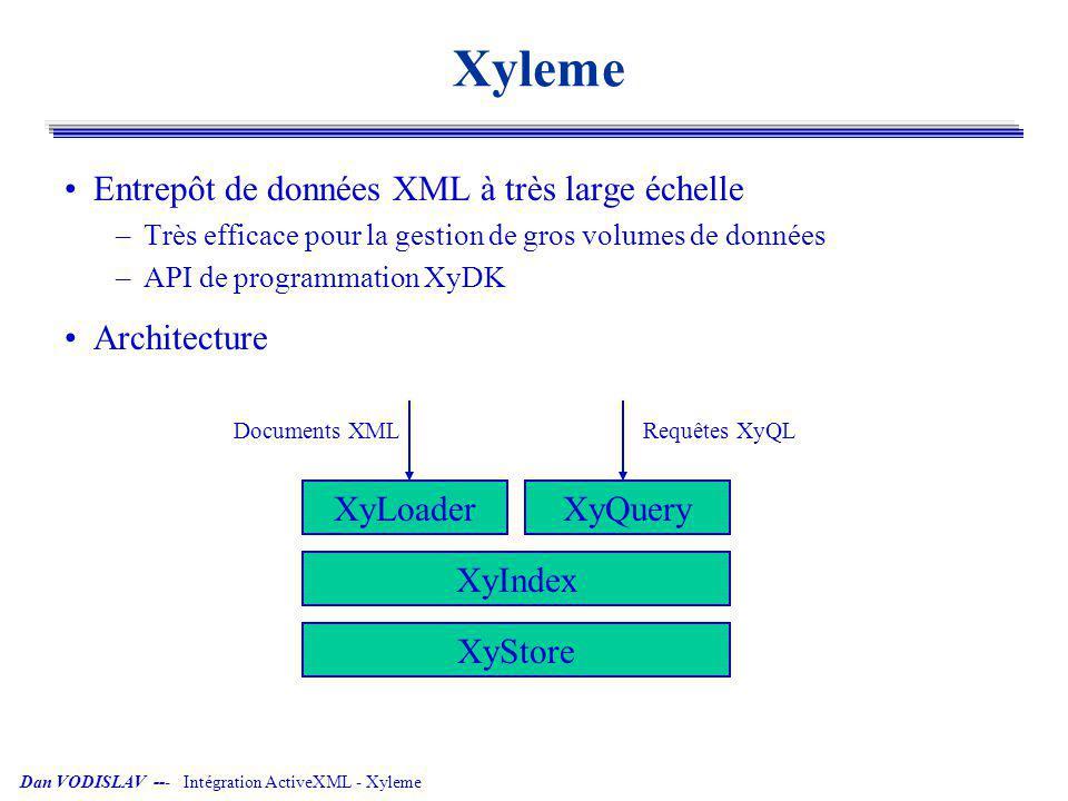 Xyleme Entrepôt de données XML à très large échelle Architecture