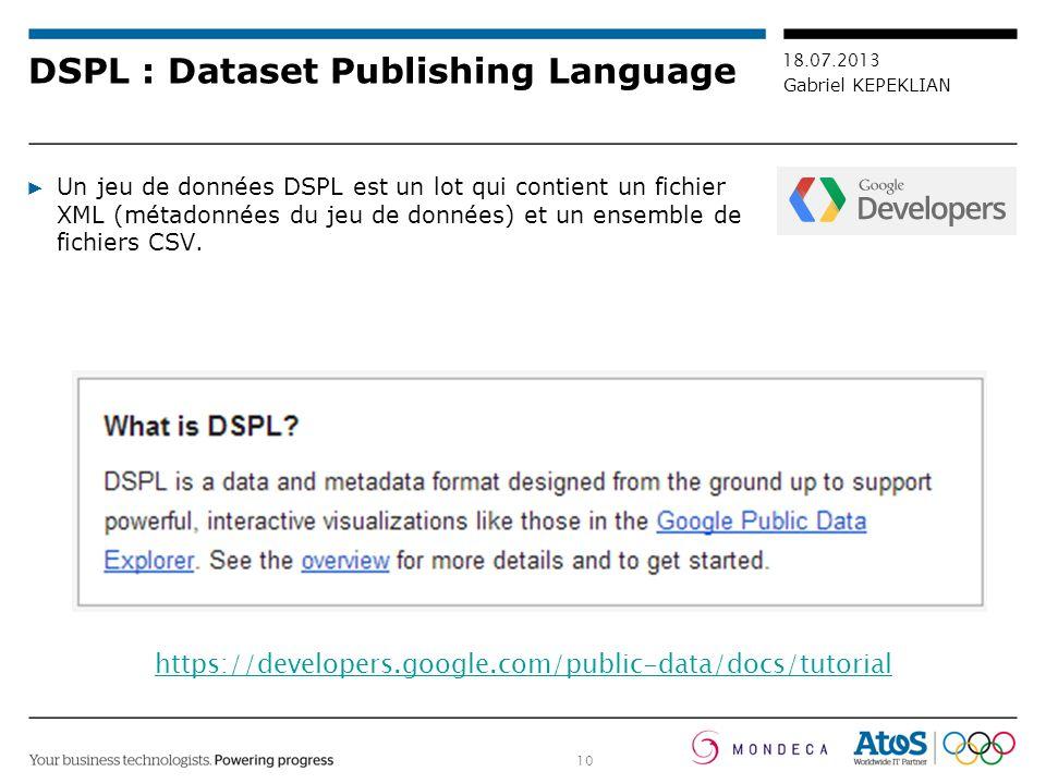 DSPL : Dataset Publishing Language