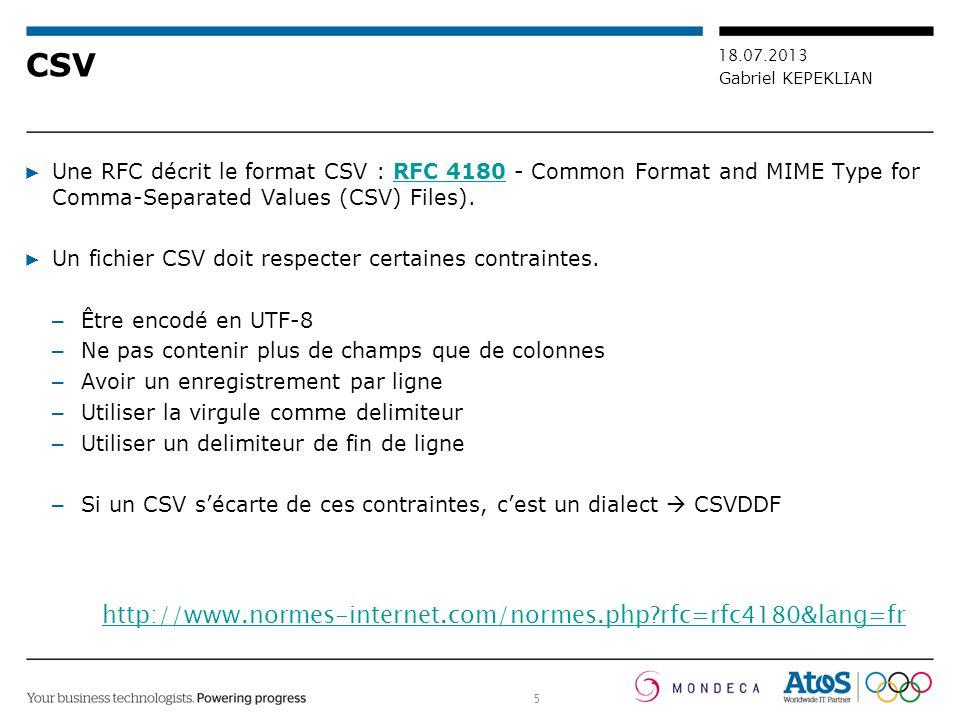 CSV http://www.normes-internet.com/normes.php rfc=rfc4180&lang=fr