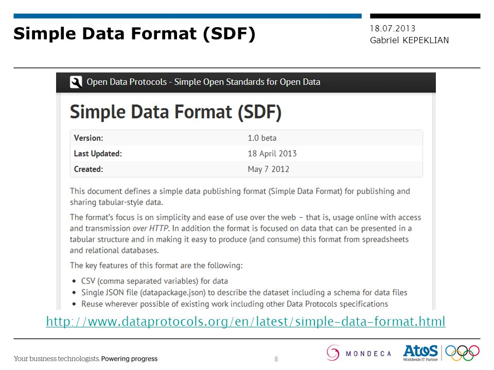 Simple Data Format (SDF)