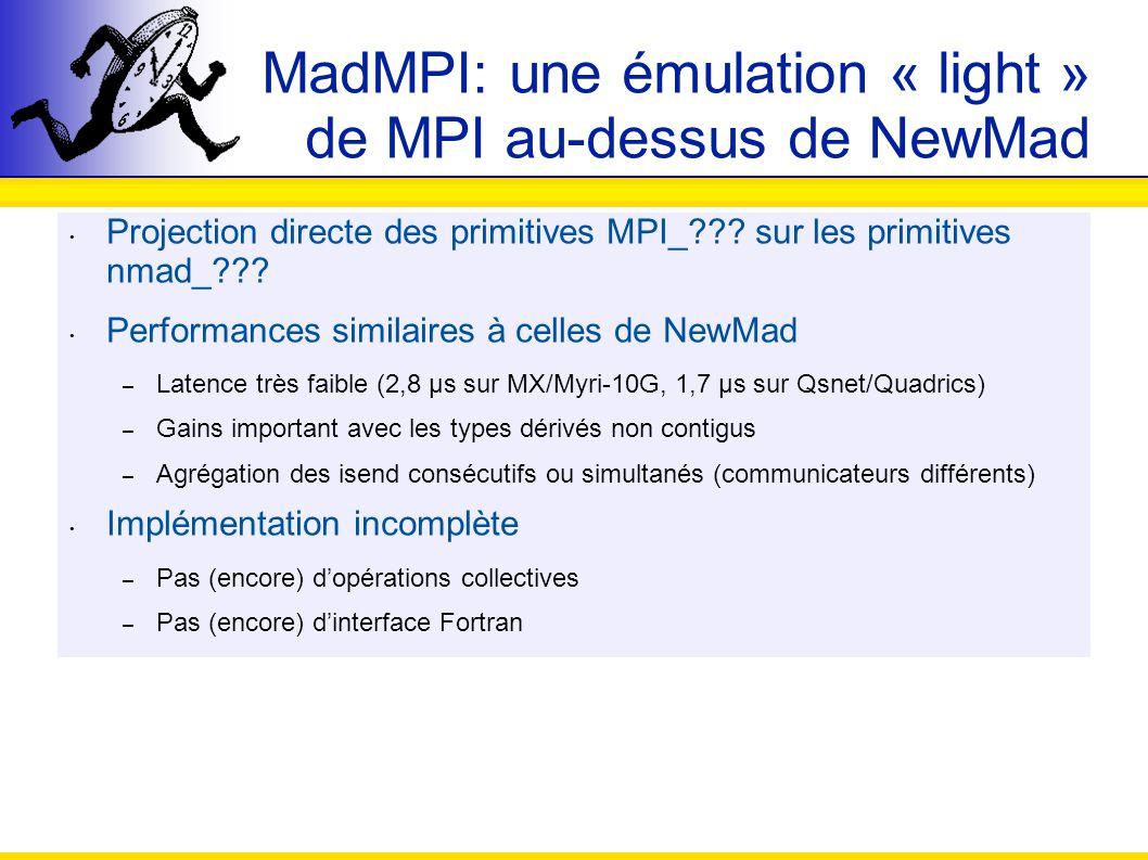 MadMPI: une émulation « light » de MPI au-dessus de NewMad