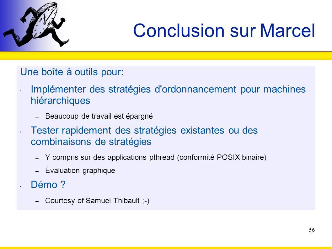 Conclusion sur Marcel Une boîte à outils pour: