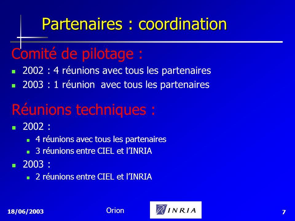 Partenaires : coordination