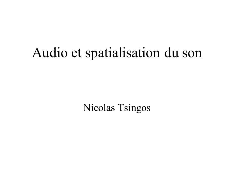 Audio et spatialisation du son