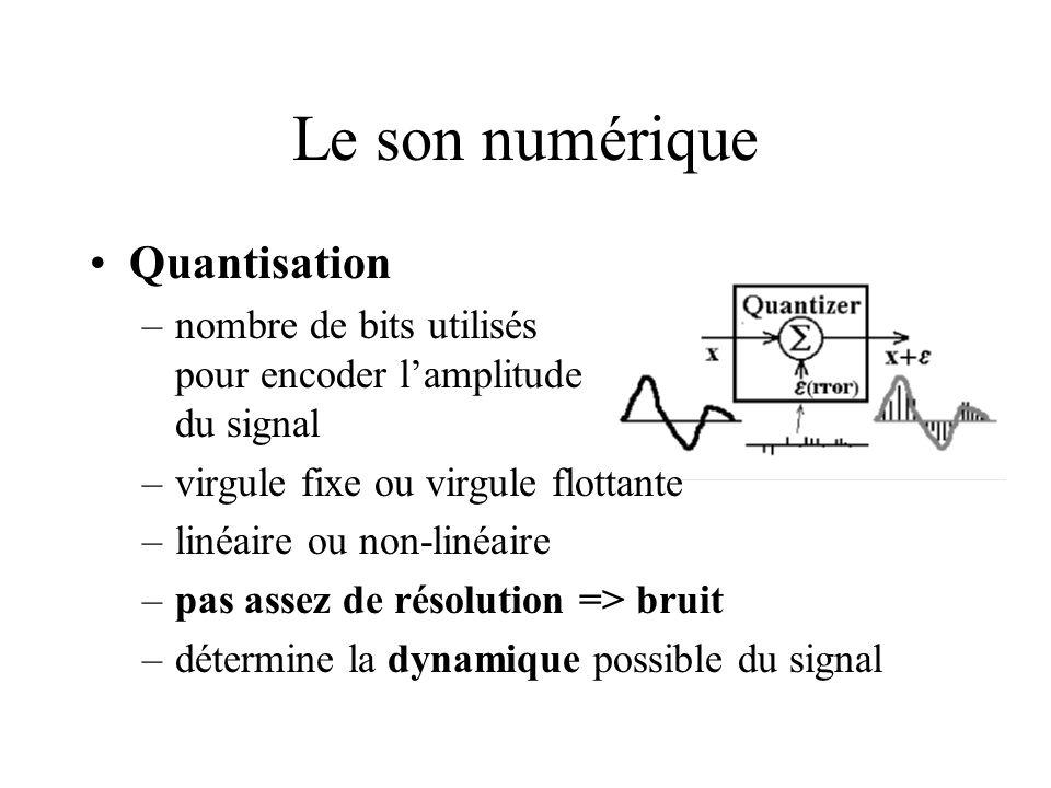 Le son numérique Quantisation