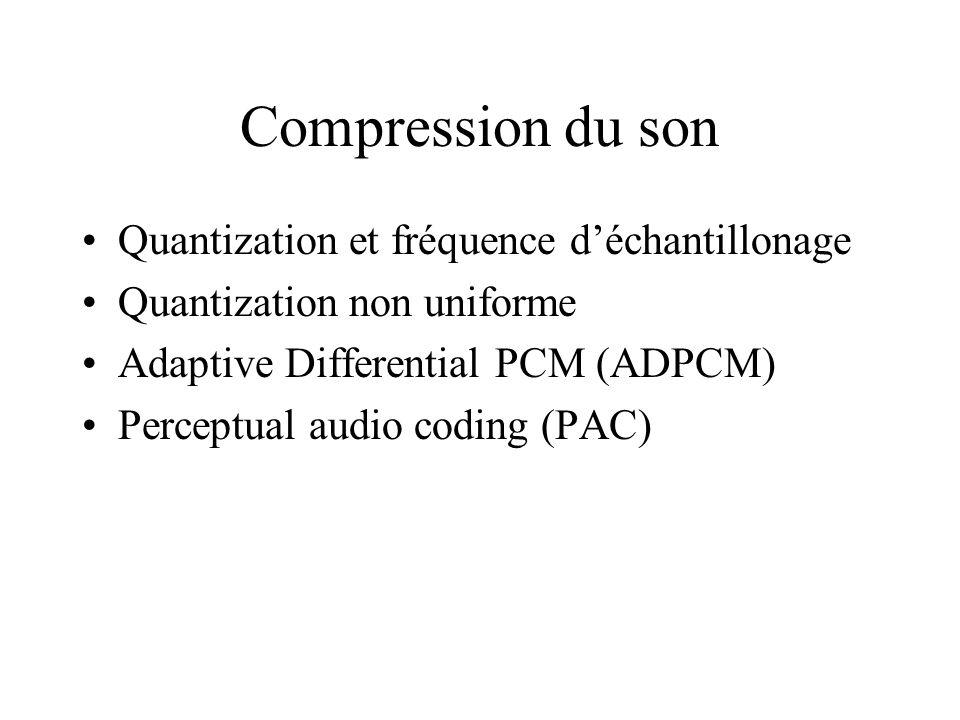 Compression du son Quantization et fréquence d'échantillonage