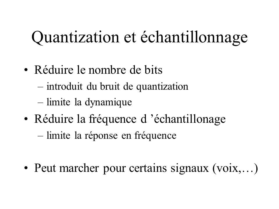 Quantization et échantillonnage