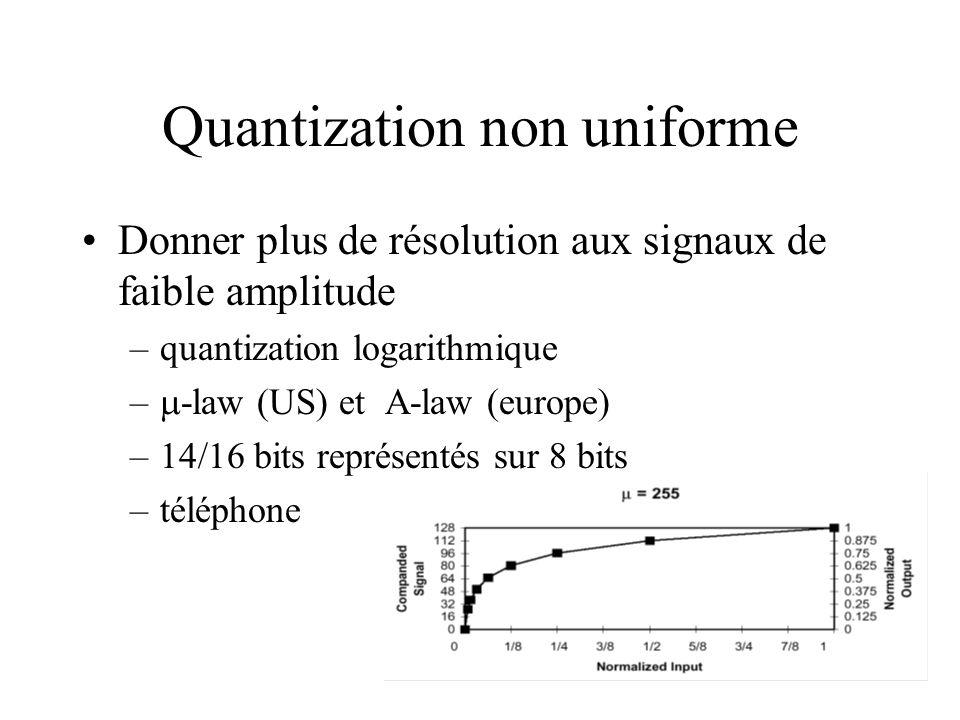 Quantization non uniforme