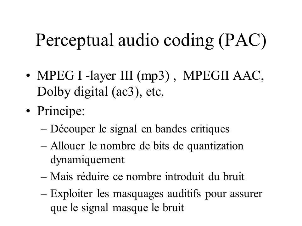 Perceptual audio coding (PAC)
