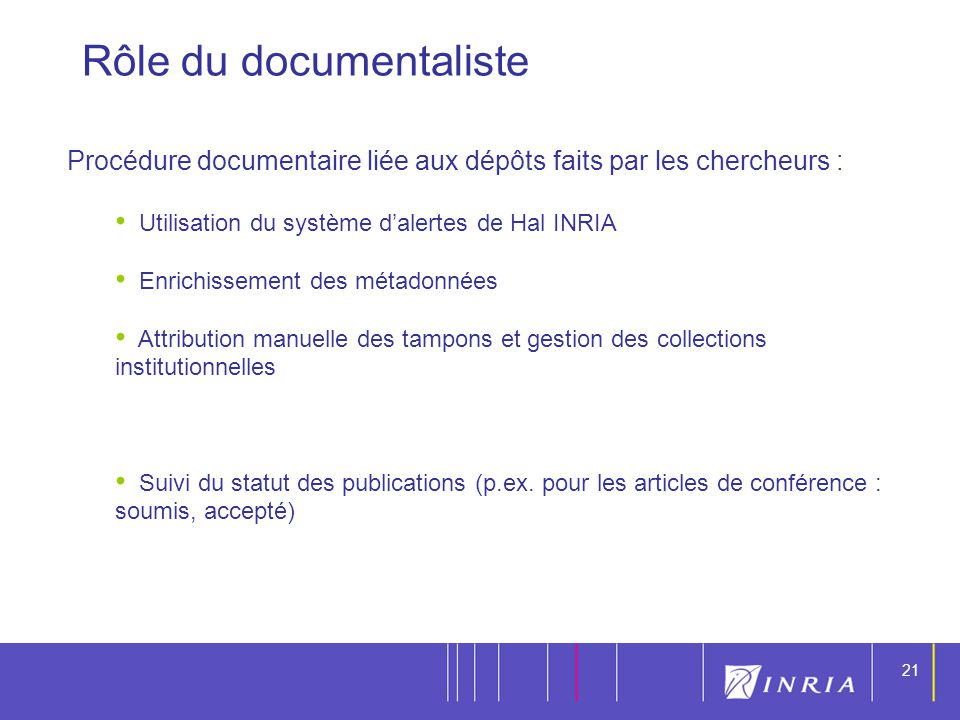 Rôle du documentaliste