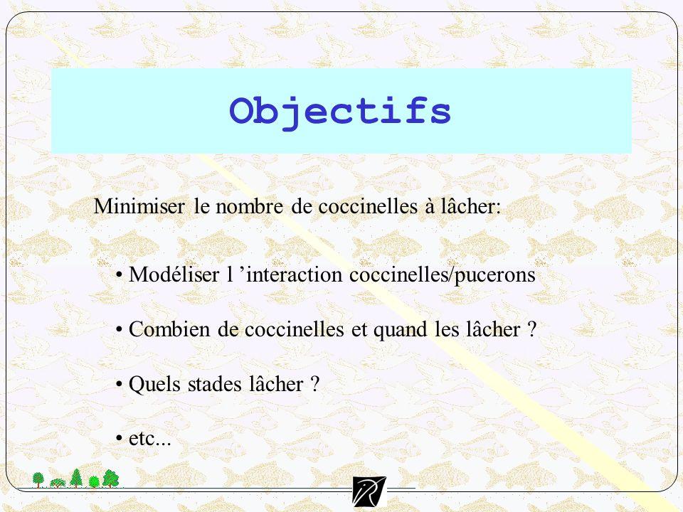 Objectifs Minimiser le nombre de coccinelles à lâcher:
