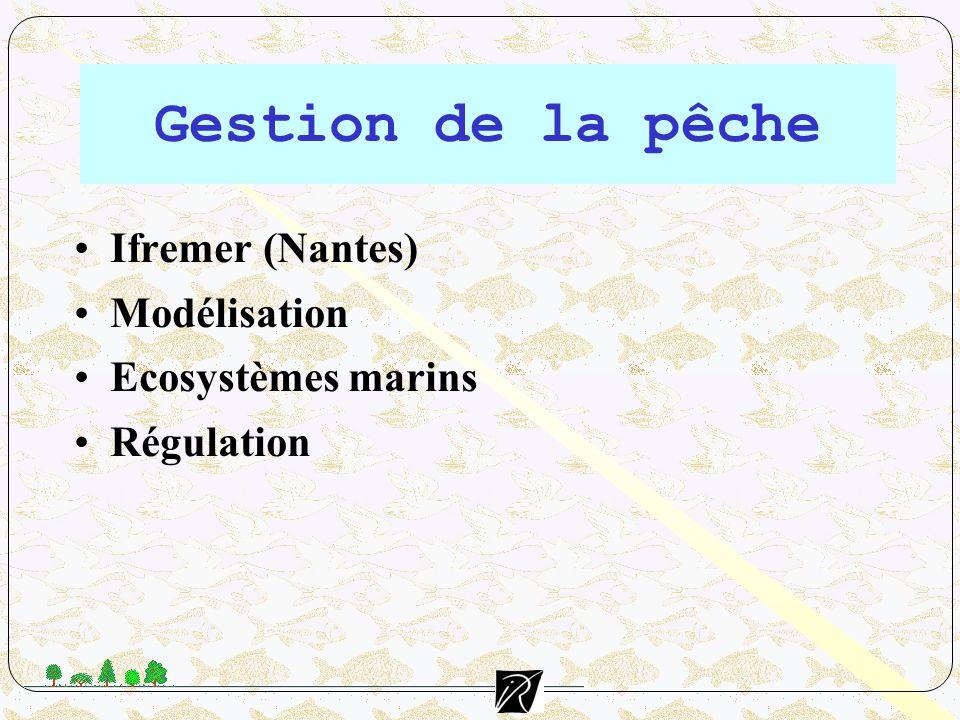 Gestion de la pêche Ifremer (Nantes) Modélisation Ecosystèmes marins