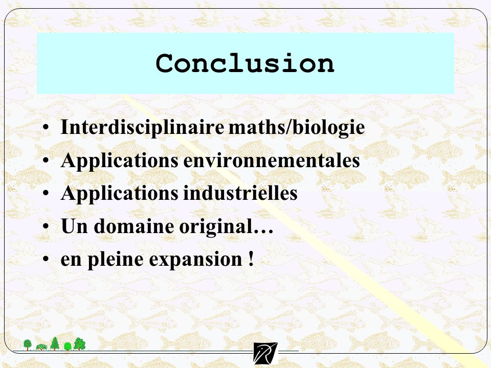 Conclusion Interdisciplinaire maths/biologie