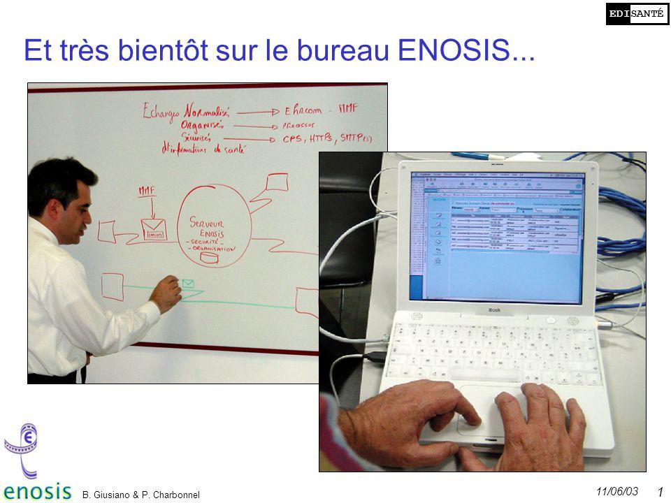 Et très bientôt sur le bureau ENOSIS...