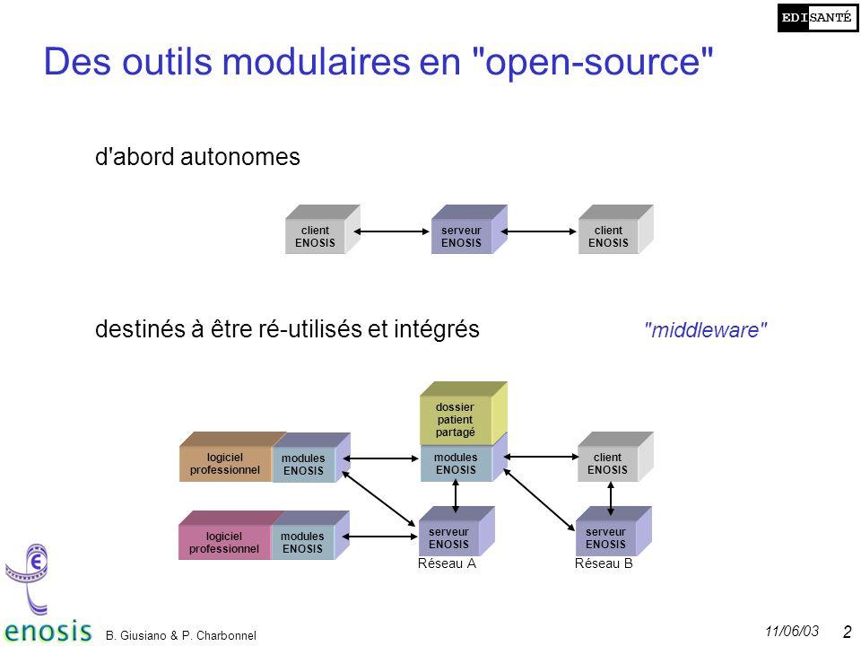 Des outils modulaires en open-source