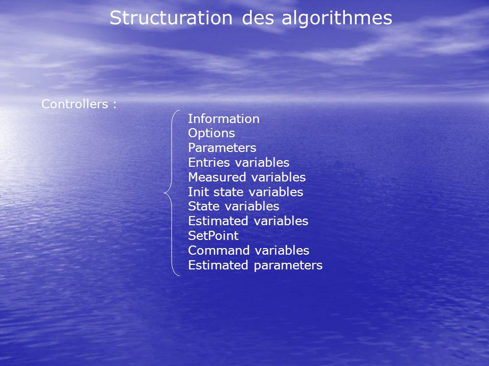 Structuration des algorithmes