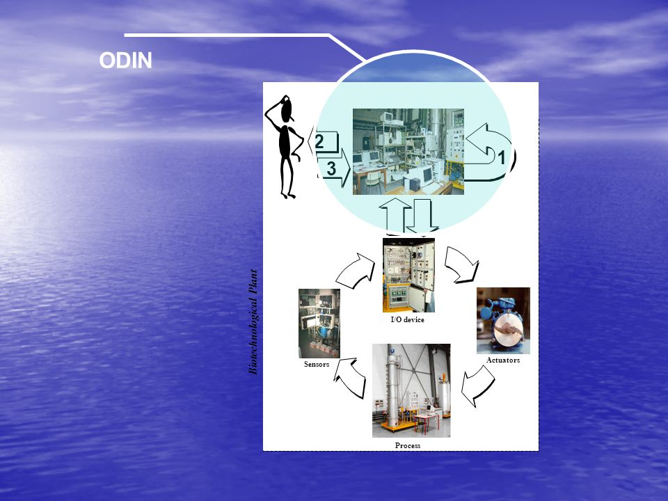 ODIN Sensors Actuators I/O device Process Biotechnological Plant 3 2 1