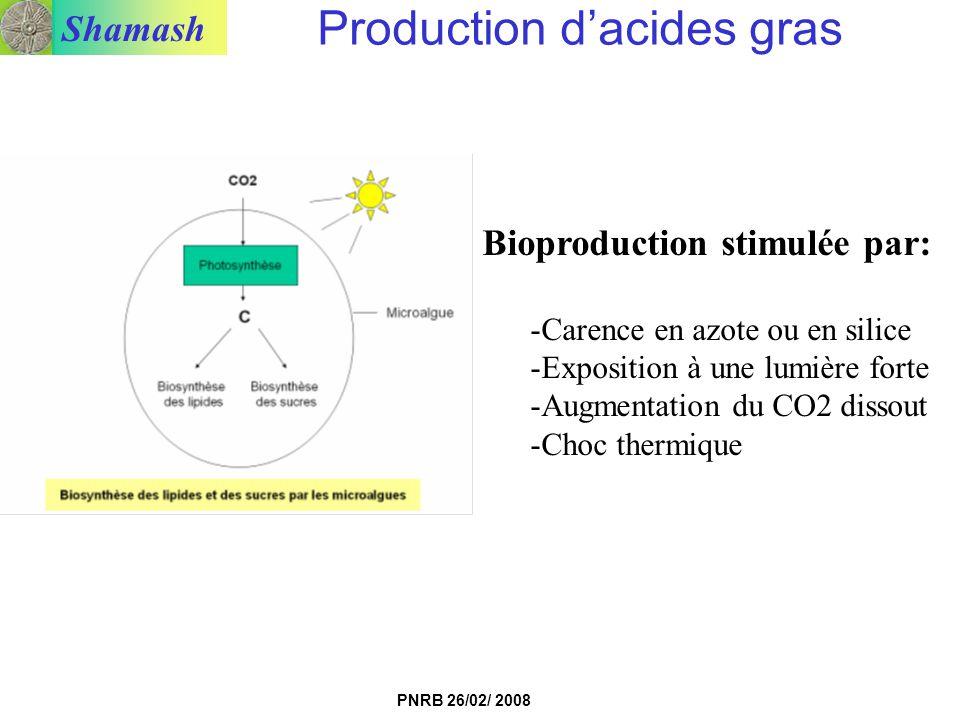 Production d'acides gras