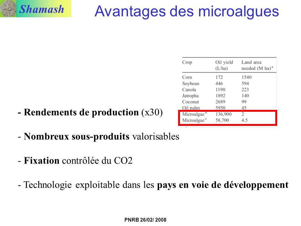 Avantages des microalgues