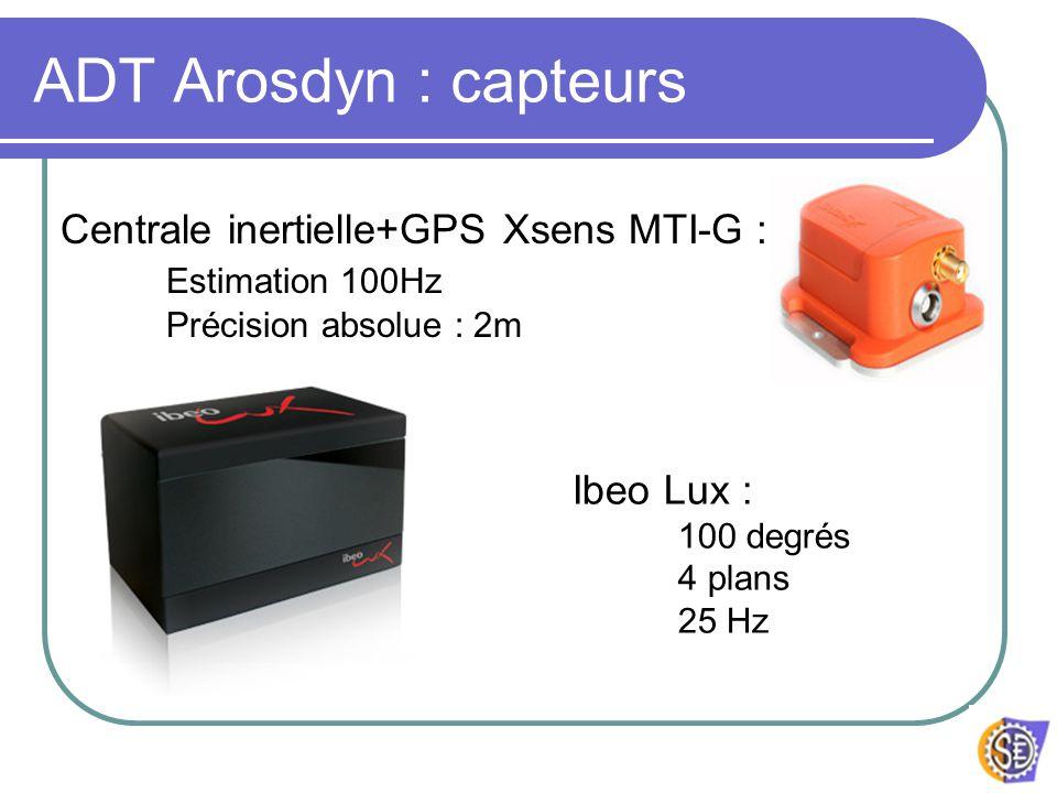 ADT Arosdyn : capteurs Centrale inertielle+GPS Xsens MTI-G :