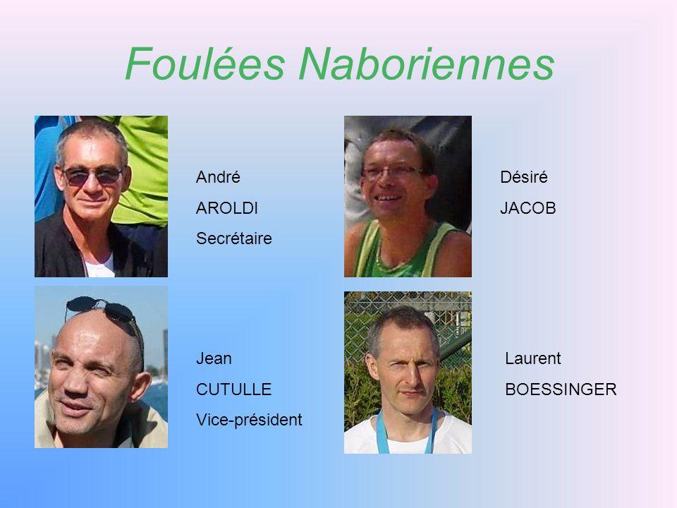 Foulées Naboriennes André AROLDI Secrétaire Désiré JACOB Jean CUTULLE
