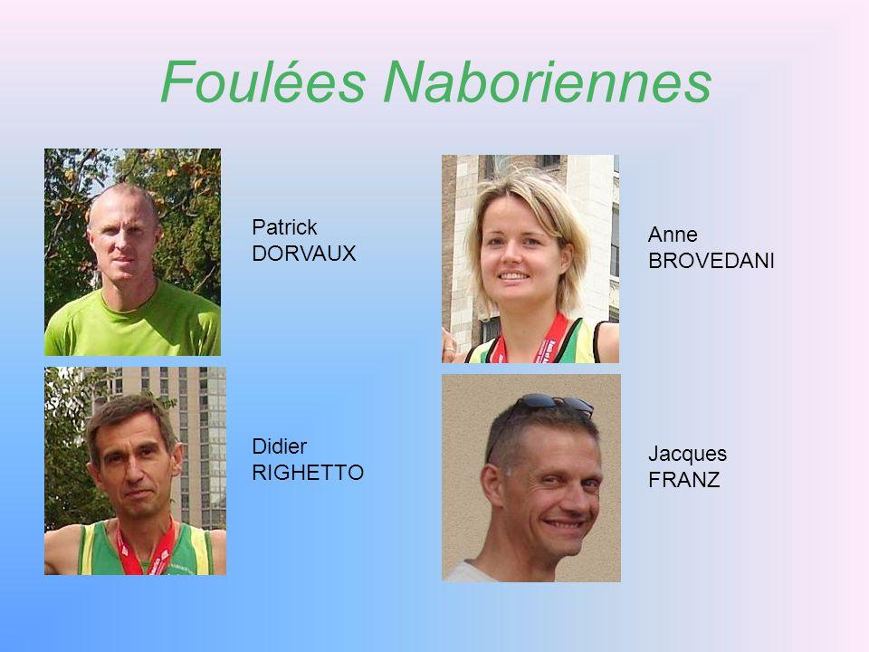 Foulées Naboriennes Patrick Anne DORVAUX BROVEDANI Didier Jacques