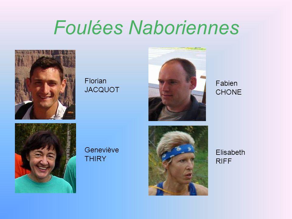 Foulées Naboriennes Florian Fabien JACQUOT CHONE Geneviève Elisabeth