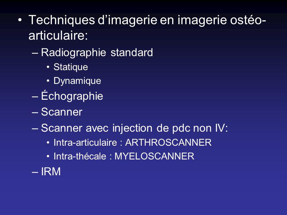 Techniques d'imagerie en imagerie ostéo-articulaire: