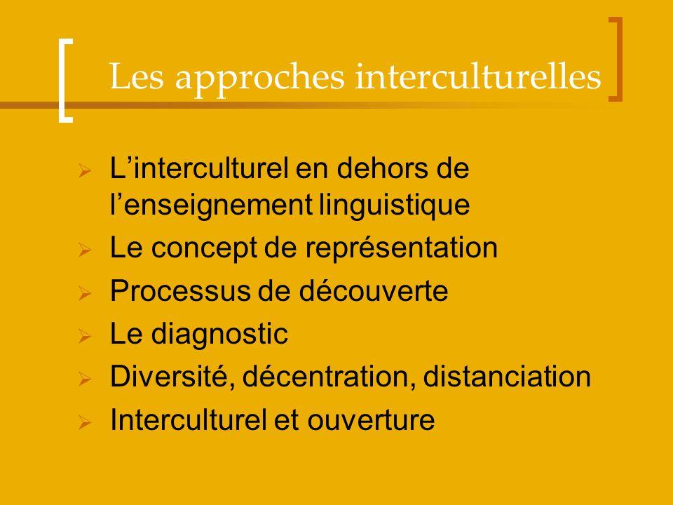 Les approches interculturelles