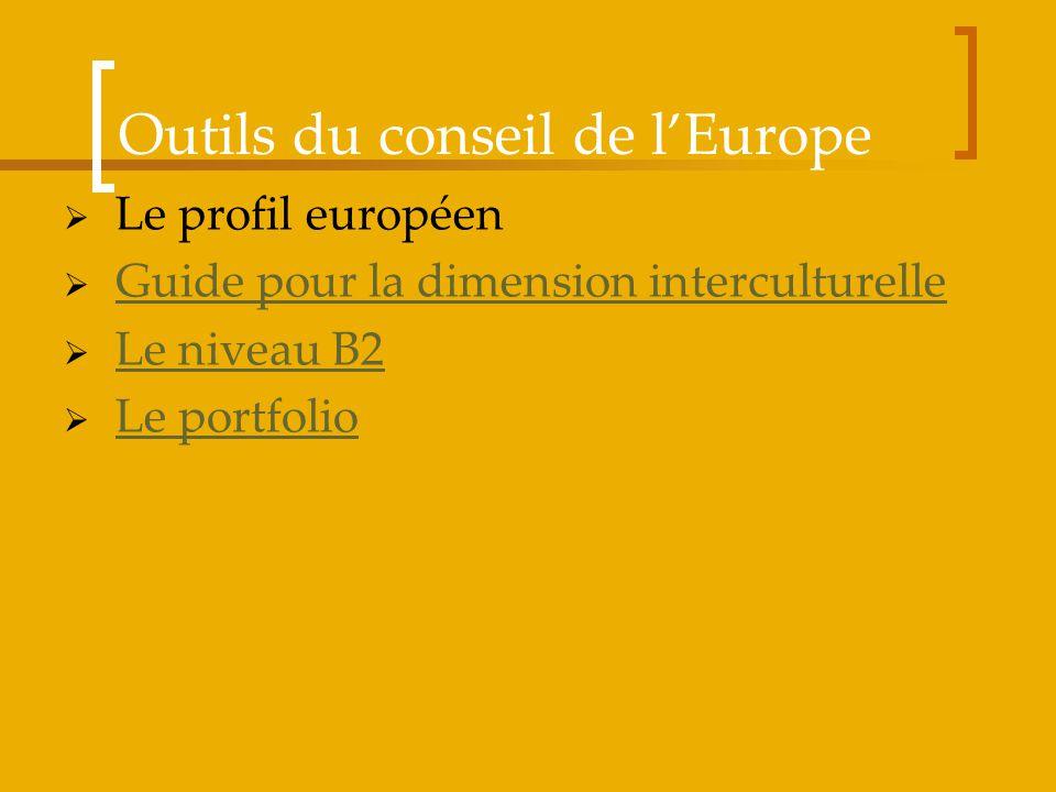 Outils du conseil de l'Europe
