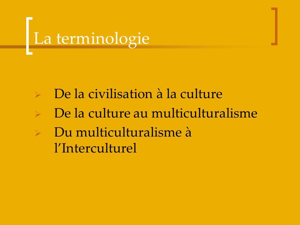 La terminologie De la civilisation à la culture