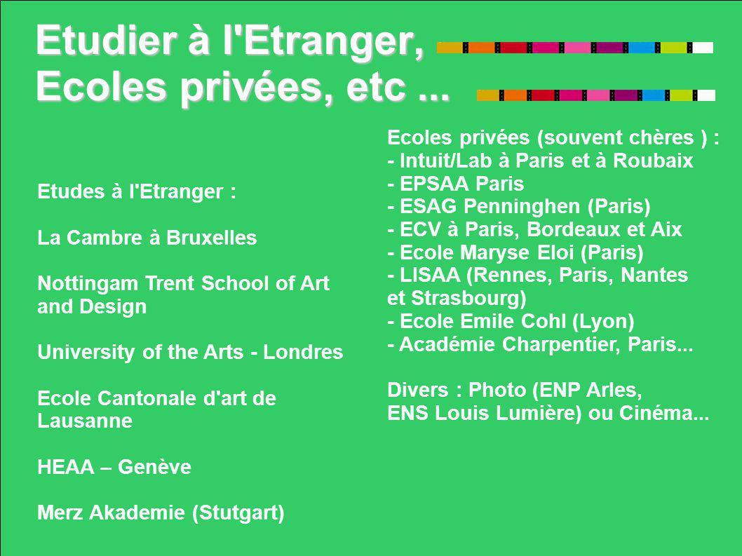 Etudier à l Etranger, Ecoles privées, etc ...