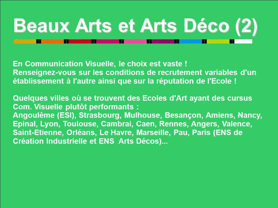Beaux Arts et Arts Déco (2)