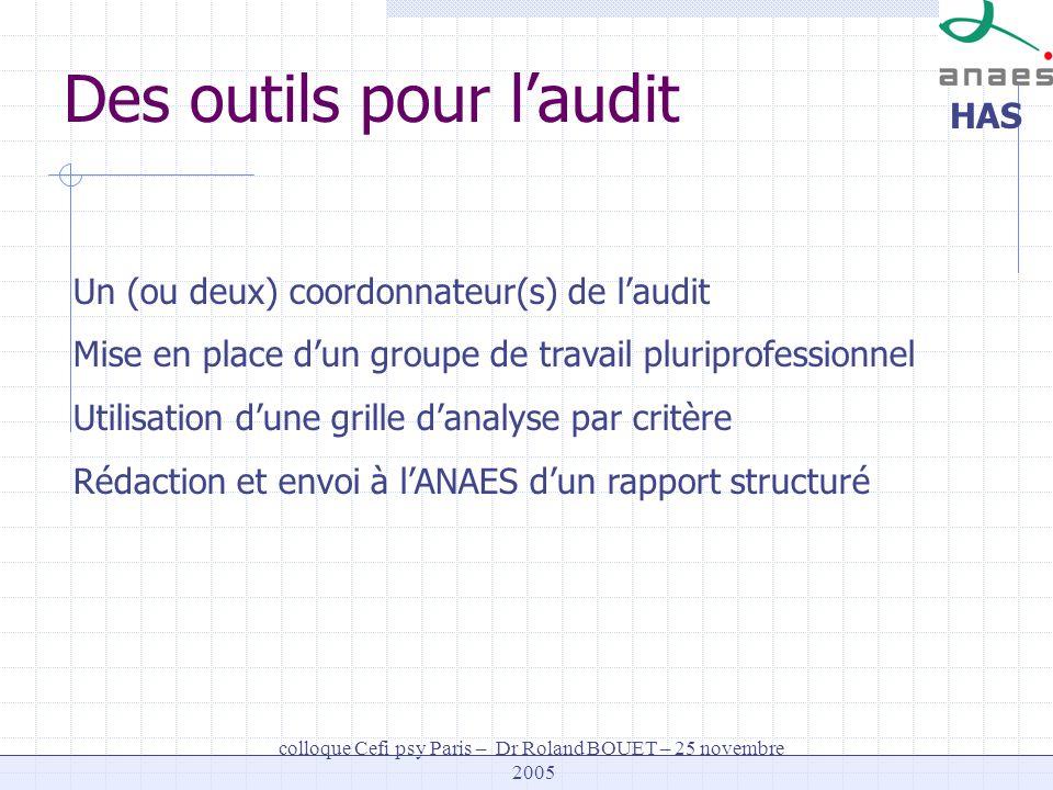 Des outils pour l'audit