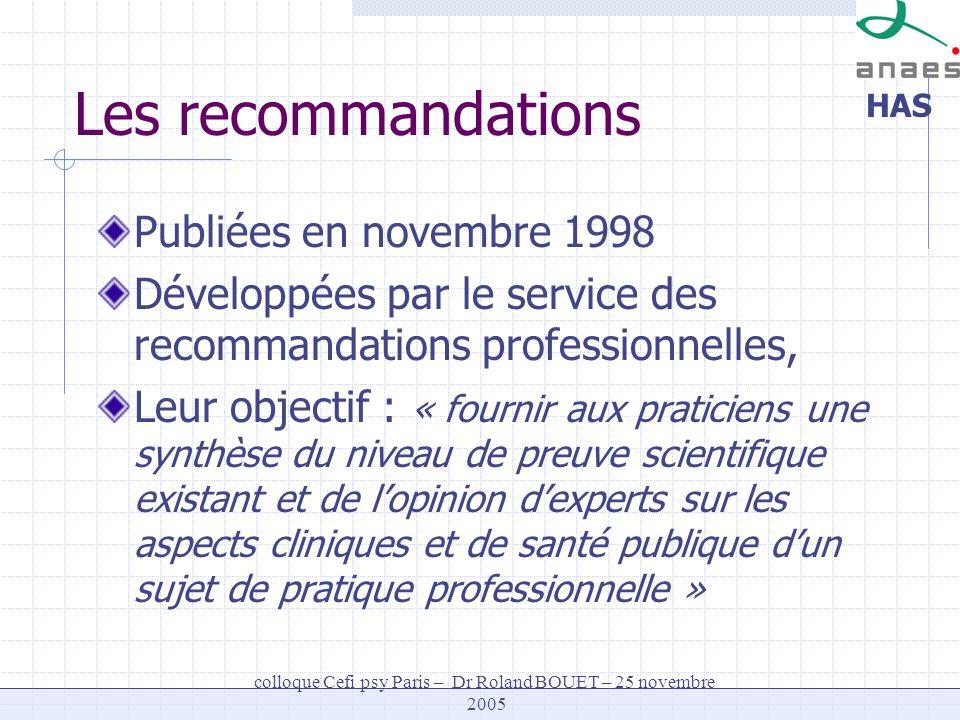colloque Cefi psy Paris – Dr Roland BOUET – 25 novembre