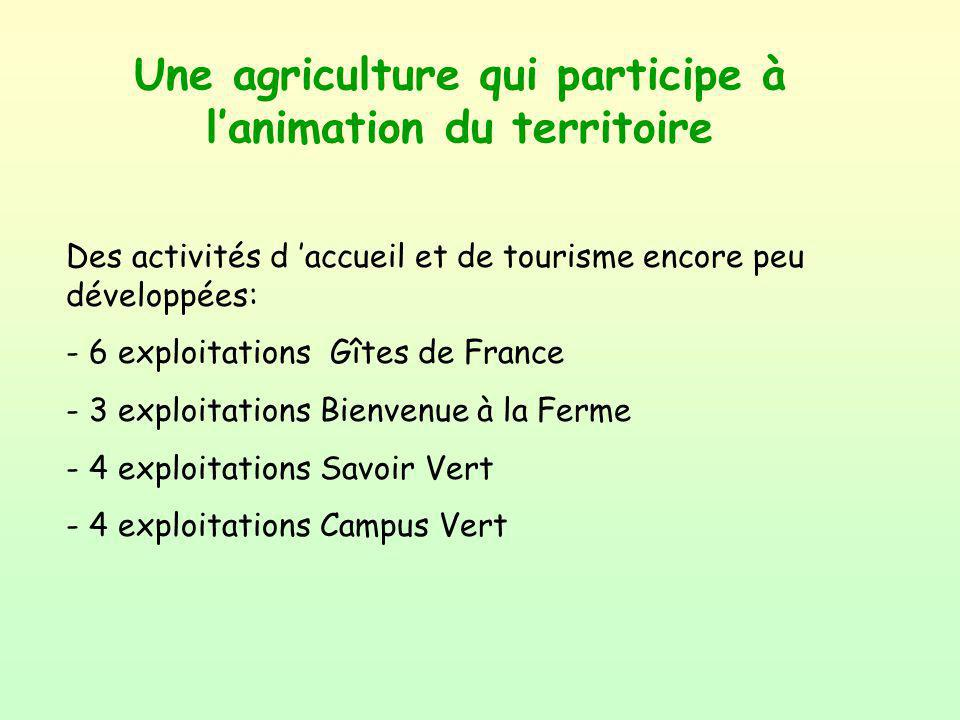 Une agriculture qui participe à l'animation du territoire