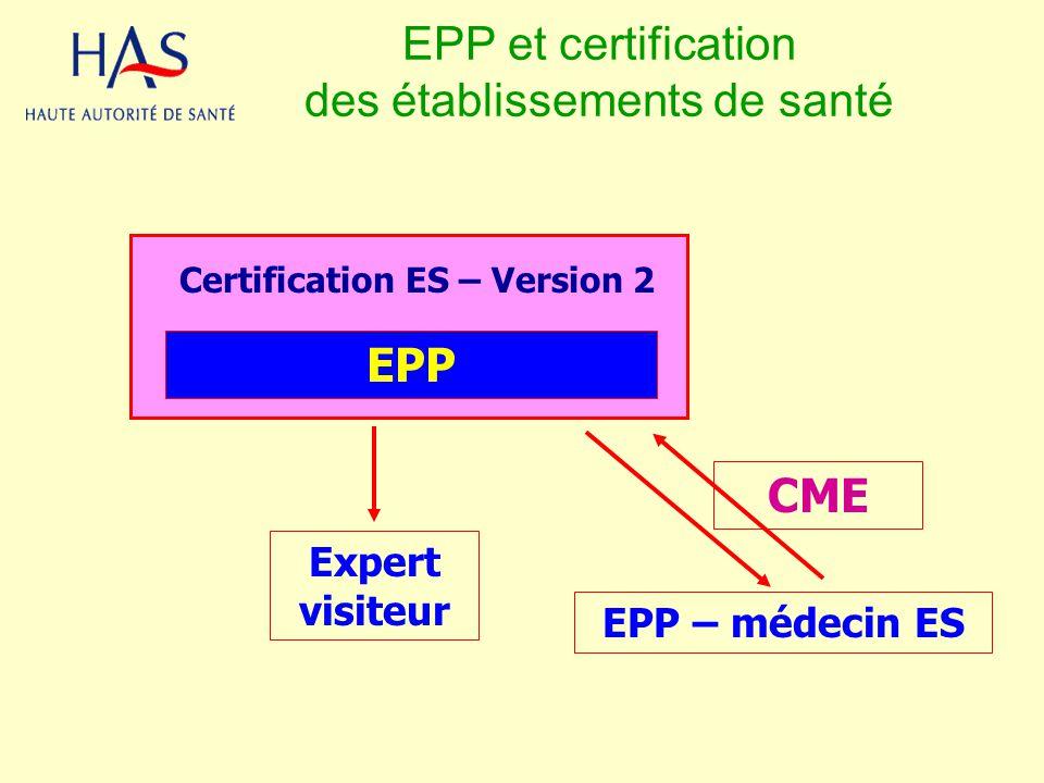 EPP et certification des établissements de santé
