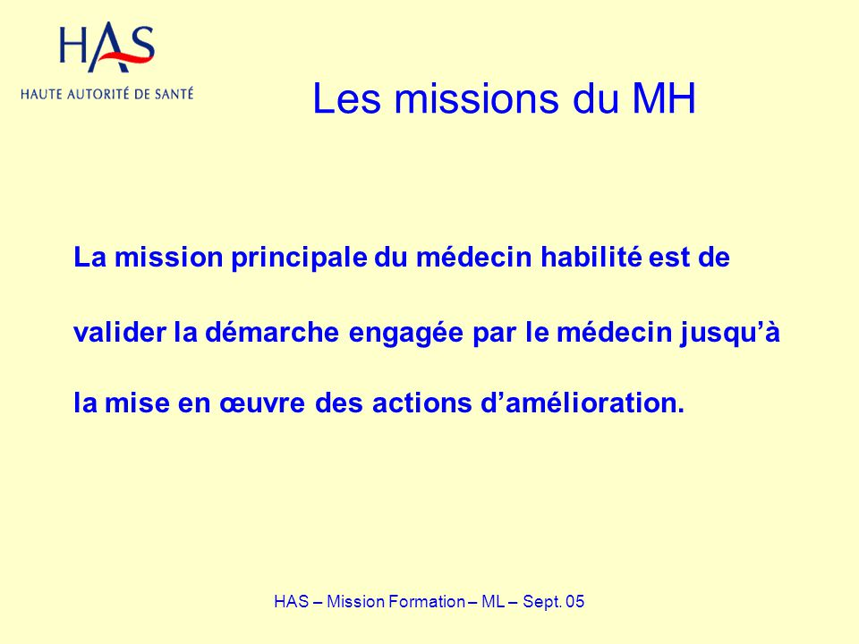 HAS – Mission Formation – ML – Sept. 05