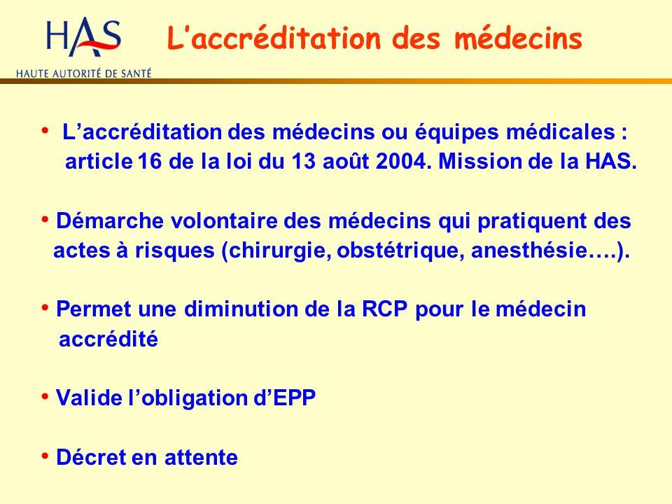 L'accréditation des médecins