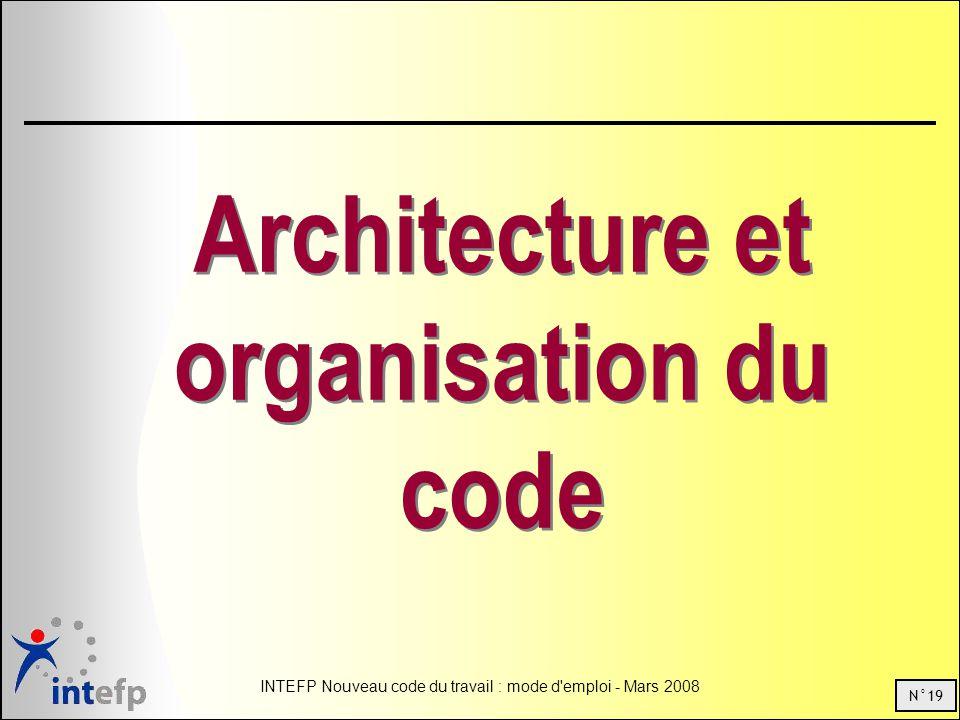Architecture et organisation du code