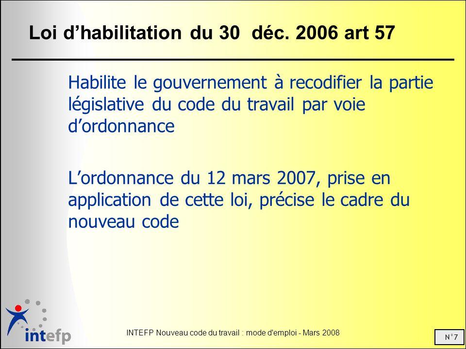 Loi d'habilitation du 30 déc. 2006 art 57