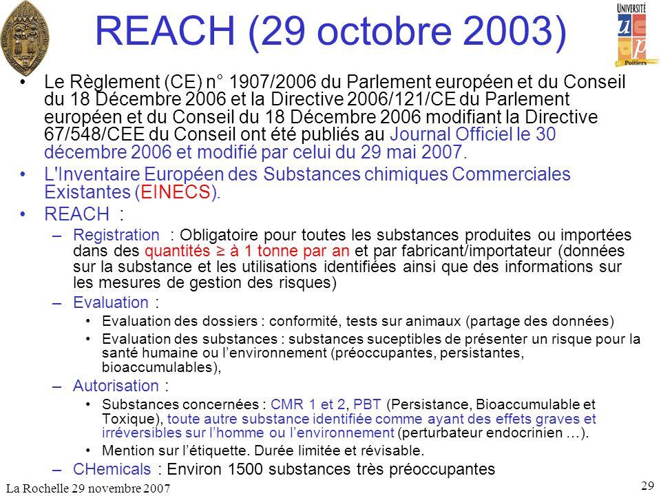 REACH (29 octobre 2003)