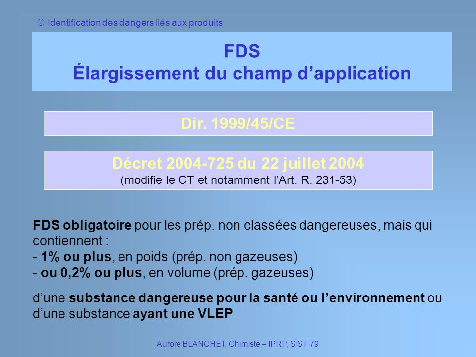 Élargissement du champ d'application